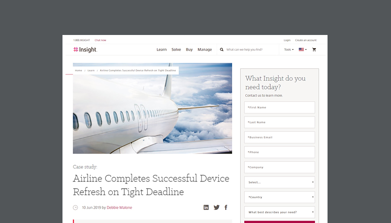 Airline Completes Successful Device Refresh on Tight Deadline cover